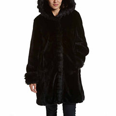 Excelled® Faux-Fur Short Solid Coat
