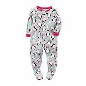 Carter's Girls Long Sleeve One Piece Pajama-Baby