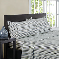 Intelligent Design Microfiber Multi Stripe Sheet Set