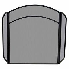 Blue Rhino 3 Fold Wrought Iron Arch Top Fireplace Screen