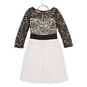 My Michelle® Lace Foil Ballerina Dress - Girls 7-16