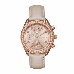Liz Claiborne Womens Brown Strap Watch-Lc1323