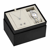 Bulova Womens Silver Tone Watch Boxed Set-98x112