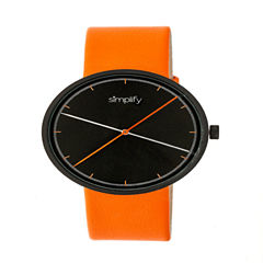 Simplify Unisex Orange Strap Watch-Sim4103