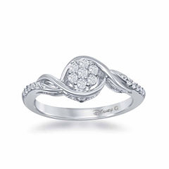 Enchanted by Disney 1/5 C.T. T.W. Diamond 10K White Gold