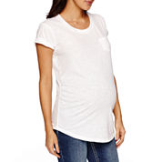 a.n.a Short Sleeve Scoop Neck T-Shirt-Maternity