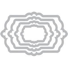 Sizzix® Framelits Fancy Labels no.3 4-pc. Die Set