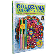 As Seen On TV Colorama Coloring Book™ + BONUS Pencil Set