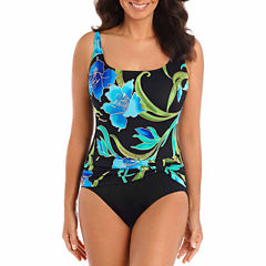 Robby Len By Longitude Solid One Piece Swimsuit