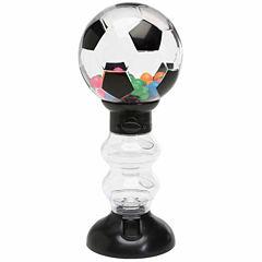 Sweet N Fun Soccer Gumball Machine Bank with Gumballs