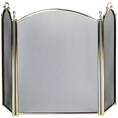 Blue Rhino 3 Panel Polished Brass Fireplace Screen