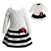 Young Land Long Sleeve Dress Set - Preschool
