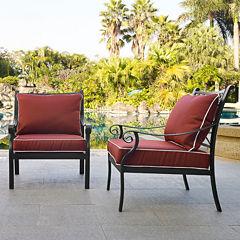 Portofino Cast Aluminum 2-pc. Patio Dining Chair