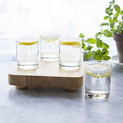 Cathy's Concepts Engravable Etched Monogram Set of 4 Drinking Glasses
