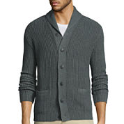 Claiborne® Long-Sleeve Shawl Collar Cardigan