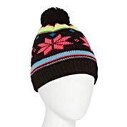 Isotoner® Pom Snowflake Hat