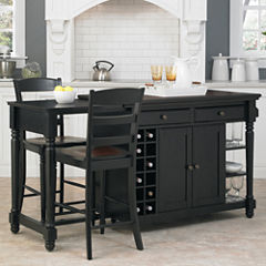 Langford Kitchen Island and Counter-Height Barstool Collection