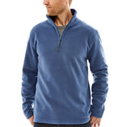 St. John's Bay® Long-Sleeve Quarter-Zip Fleece Jacket