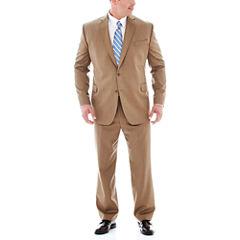 Stafford® Travel Tan Herringbone Suit Separates - Big & Tall
