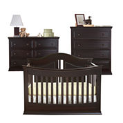 Rockland Austin 3-pc. Baby Furniture Set - Espresso