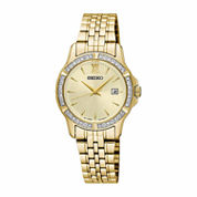 Seiko Womens Gold Tone Bracelet Watch-Sur728