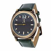 Brooklyn Exchange Mens Green Strap Watch-Nwl399010ag-Gr