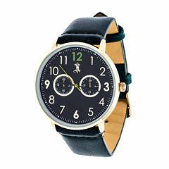 Brooklyn Exchange Mens Blue Strap Watch-Nwl400106g-Gr
