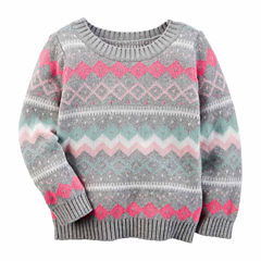 Carter's Crew Neck Long Sleeve Pullover Sweater - Preschool