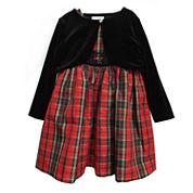 Marmellata Girls Sleeveless Jacket Dress