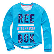 Reebok Girls Graphic Long Sleeve Power T-Shirt - Preschool