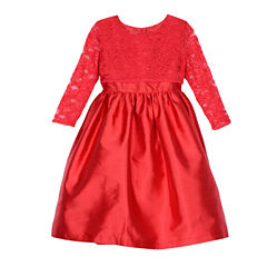 Marmellata Elbow Sleeve Party Dress - Big Kid Girls