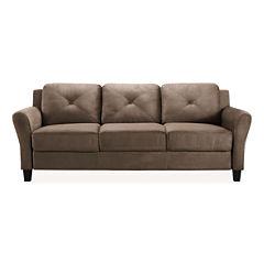 Hartford Microfiber Rolled Arm Sofa