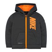 Nike® Long-Sleeve Front-Zip Fleece Hoodie - Preschool Boys 4-7