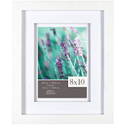White with White Airfloat Matted Picture Frame