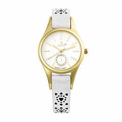 Decree Womens White Strap Watch-Pt1072gdwt