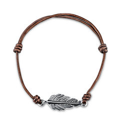 Footnotes Womens Silver Over Brass Wrap Bracelet