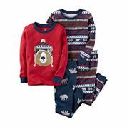 Carter's Boys 4-pc. Long Sleeve Kids Pajama Set-Toddler