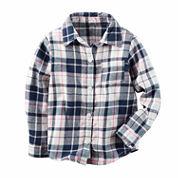 Carter's Girls Long Sleeve Button-Front Shirt