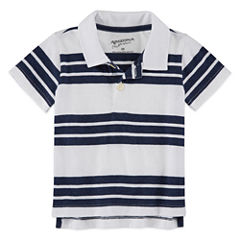 Arizona Short Sleeve Stripe Polo Shirt - Baby Boys