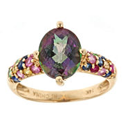 LIMITED QUANTITIES! Purple Topaz 14K Gold Cocktail Ring