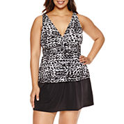 Trimshaper®  Treadz Katie Tankini or Skirt - Plus