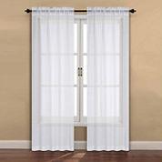 Maddy 2-Pack Rod-Pocket Sheer Curtain Panel