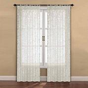 Madrid 2-Pack Rod-Pocket Sheer Curtain Panel