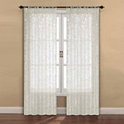 Madrid 2-Pack Rod-Pocket Sheer Curtain Panel