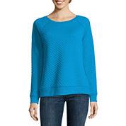 Liz Claiborne Raglan Novelty Pullover