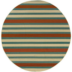 Covington Home Montego Stripe Indoor/Outdoor Round Rug