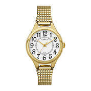 Carriage by Timex® Womens Gold-Tone Stainless Steel Expansion Bracelet Watch C3C2389J