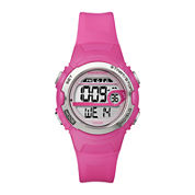 Marathon by Timex® Womens Pink Resin Strap Digital Watch T5K771M6