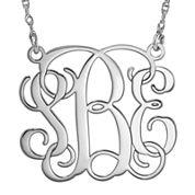 Personalized 30mm Vine Monogram Necklace