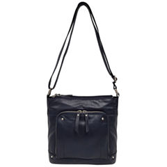 east 5th Leather Front Pocket Hobo Bag